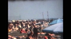 Italy 1990: People on the Beach Stock Footage