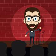 stand up comedy - stock illustration