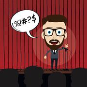 Stand up comedy Stock Illustration