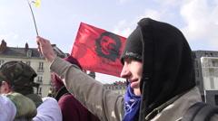 Peaceful demonstrators 7 - stock footage