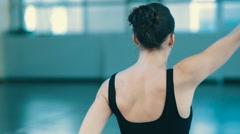 Woman do yoga indoors Stock Footage