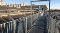 Highline gallery Milan, Milan Cathedral  Stock Footage