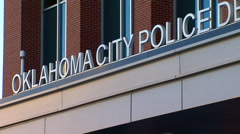 Oklahoma City Police Headquarters Sign - stock footage