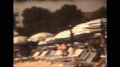 Italy 1990: Beach - stock footage