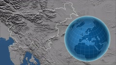 Slovenia and Globe. Set of five animations plus matte Stock Footage