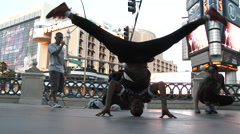 Breakdancing Headstand And Splits Stock Footage