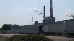 Chillicothe, OH medium shot of paper plant Stock Footage
