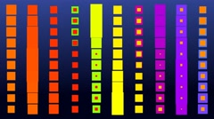 Psychedelic hypnotic colorful squares Stock Footage