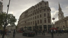 London The Strand people & building timelapse Stock Footage