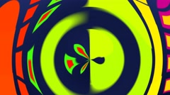 Psychedelic hypnotic colorful shapes Stock Footage