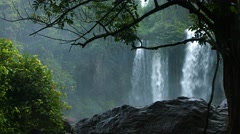 Misty Falls at Phnom Kulen National Park, with Sound Stock Footage