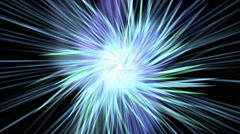 Time warp space travel abstract animation Stock Footage