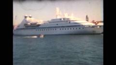 Vintage Super 8:Venice 1990 - Cruise Ship Stock Footage