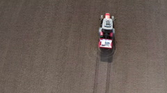 Fertilizer spreading on the field. Aerial footage. Stock Footage