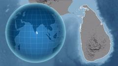 Sri Lanka and Globe. Set of five animations plus matte Stock Footage