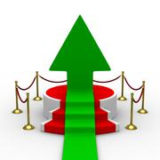 Podium on white background. Isolated 3D image Piirros