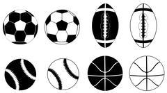Sport Balls - stock illustration