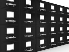 Filing cabinet on white. Isolated 3D image Stock Illustration
