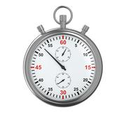 Stopwatch on white background. Isolated 3D image Piirros