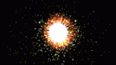 4k Abstract fire aura explosion particle space,fire hole tunnel,power energy. Stock Footage