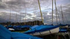 Mudeford Boat Time-lapse  4K Stock Footage