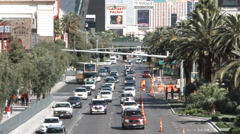 The Las Vegas Strip Mid Day Stock Footage