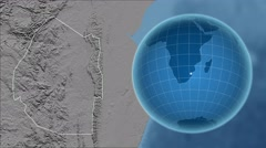 Swaziland and Globe. Set of five animations plus matte Stock Footage
