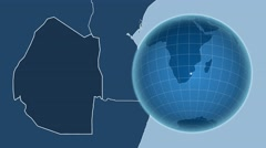 Swaziland and Globe. Solids Stock Footage