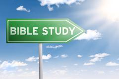 Signpost guides to bible study - stock photo