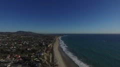 Aerial of San Clemente State Beach Stock Footage