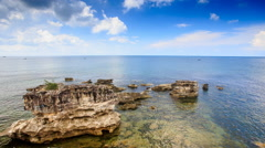 Transparent Sea Waves Wash Speckled with Wind Stones Stock Footage
