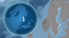 Sweden and Globe. Set of five animations plus matte Stock Footage