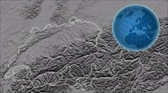 Switzerland and Globe. Set of five animations plus matte Stock Footage