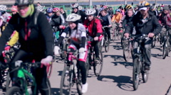 Group of cyclist at  bike race Stock Footage