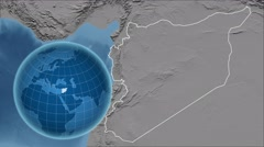 Syria and Globe. Set of five animations plus matte Stock Footage