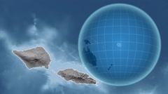 Samoa and Globe. Bumps Stock Footage