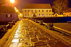 Baroque town of Varazdin square at evening Kuvituskuvat