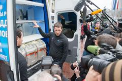 Olympic mobile testing vehicle - stock photo