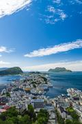 Alesund town overlook view, Norway Stock Photos