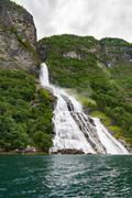 Suito waterfall, Geirangerfjord, Norway Stock Photos