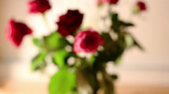 Rose bouquet dolly shot Stock Footage