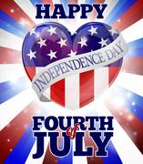 Happy Fourth of July Independence Day Stock Illustration
