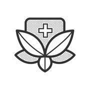 Alternative medicine icon Stock Illustration