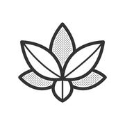 lotus icon vector design eps10 - stock illustration