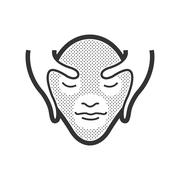 Facial massage icon Stock Illustration