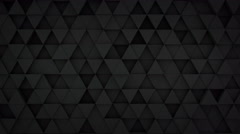 Black triangles extruding surface 3D loopable animation 4k UHD (3840x2160) Stock Footage