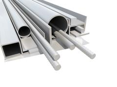 Rolled metal products. White background - stock illustration