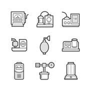 Medical Device Icon Set of Operating Room Stock Illustration