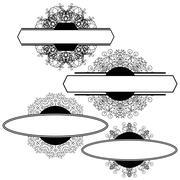 Set of Different Flourishes Isolated - stock illustration