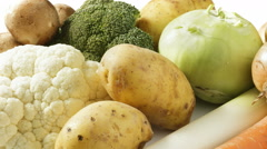 Selection of fresh vegetables Stock Footage